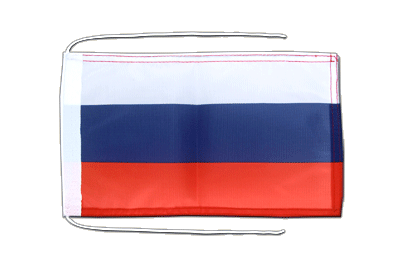 Flag with ropes Russia - 8x12""