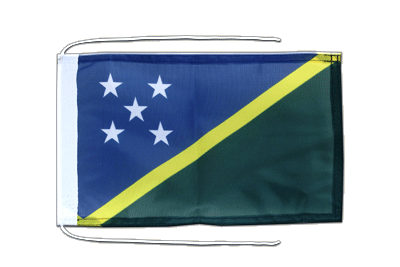 Flag with ropes Solomon Islands - 8x12""