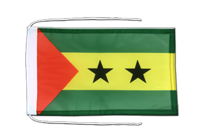 Flag with ropes Sao Tome and Principe - 8x12""