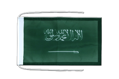 Flag with ropes Saudi Arabia - 8x12""