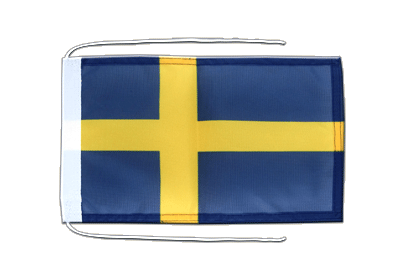 Flag with ropes Sweden - 8x12""