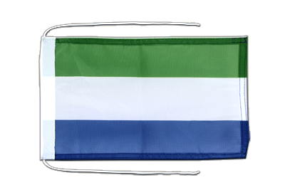 Flag with ropes Sierra Leone - 8x12""