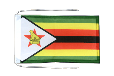 Flag with ropes Zimbabwe - 8x12""