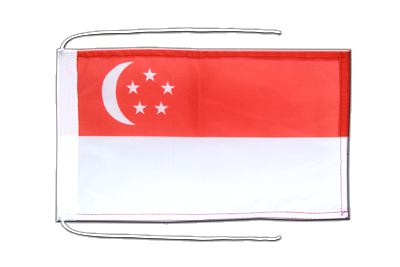 Flag with ropes Singapore - 8x12""