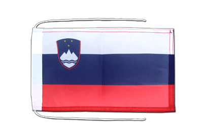 Flag with ropes Slovenia - 8x12""