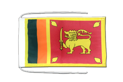 Flag with ropes Sri Lanka - 8x12""