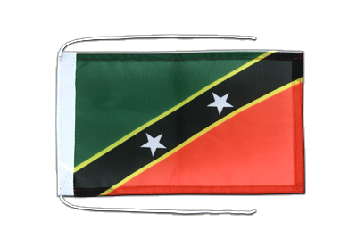 Flag with ropes Saint Kitts and Nevis - 8x12""