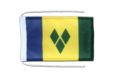 Flag with ropes Saint Vincent and the Grenadines - 8x12""