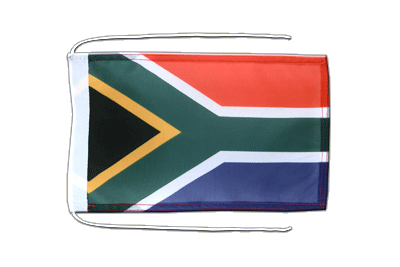 Flag with ropes South Africa - 8x12""