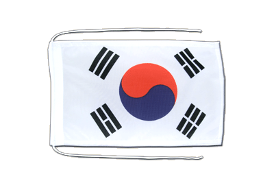 Flag with ropes South Korea - 8x12""
