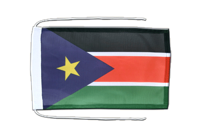 Flag with ropes Southern Sudan - 8x12""