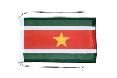 Flag with ropes Suriname - 8x12""