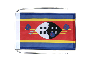 Flag with ropes Swaziland - 8x12""