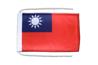 Flag with ropes Taiwan - 8x12""