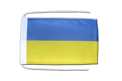 Flag with ropes Ukraine - 8x12""