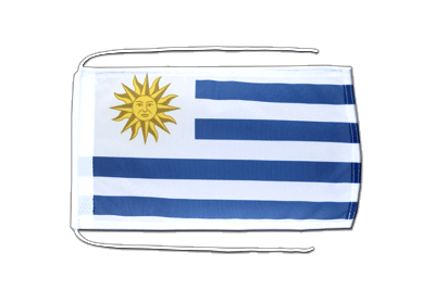 Flag with ropes Uruguay - 8x12""
