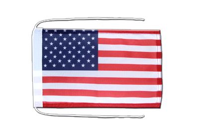 Flag with ropes USA - 8x12""