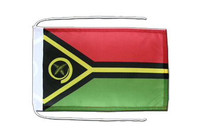 Flag with ropes Vanuatu - 8x12""