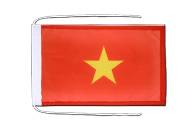 Flag with ropes Vietnam - 8x12""
