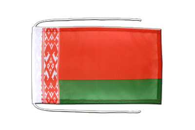 Flag with ropes Belarus - 8x12""
