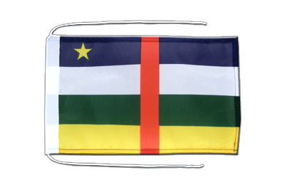 Flag with ropes Central African Republic - 8x12""