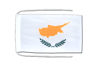 Flag with ropes Cyprus - 8x12""