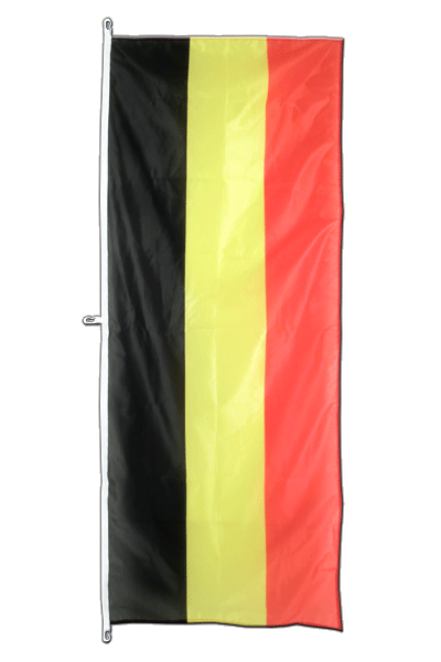 Belgium Vertical Hanging Flag - approx 2 x 6 ft