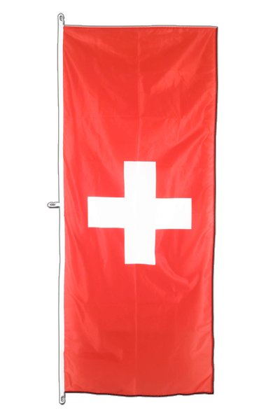 Switzerland Vertical Hanging Flag - approx 2 x 6 ft