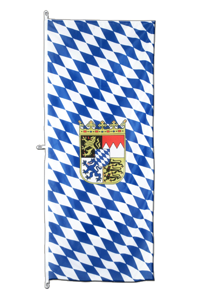 Bavaria with crest - Vertical Hanging Flag 80 x 200 cm
