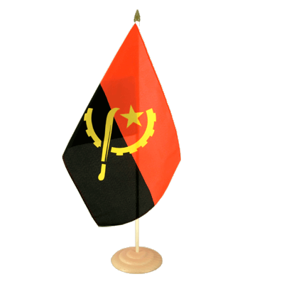 "Large Table Flag Angola - 12x18"", wooden"