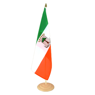 "Large Table Flag Equatorial Guinea - 12x18"", wooden"