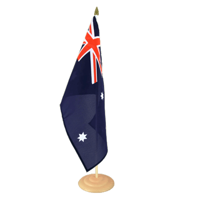Grand drapeau de table Australie en bois 30x45 cm