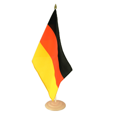 "Large Desk and Table Flag Germany - 12x18"", wooden"