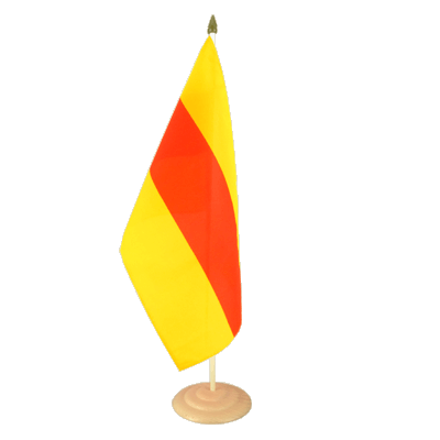 "Large Table Flag Baden - 12x18"", wooden"