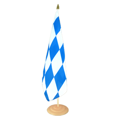 "Large Table Flag Bavaria without crest - 12x18"", wooden"