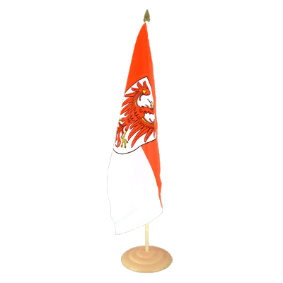 Large Brandenburg Table Flag, wooden - 12x18""