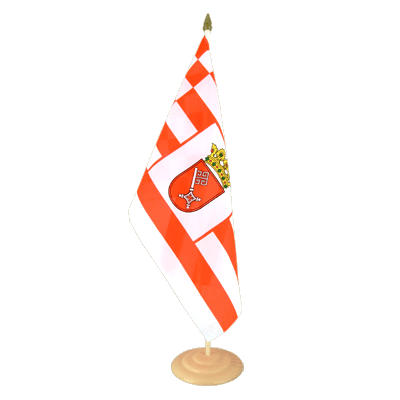 "Large Table Flag Bremen - 12x18"", wooden"