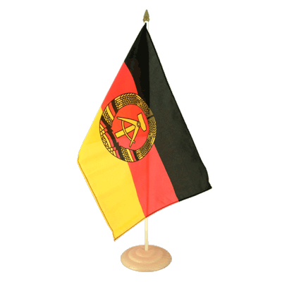 "Large Desk and Table Flag GDR - 12x18"", wooden"