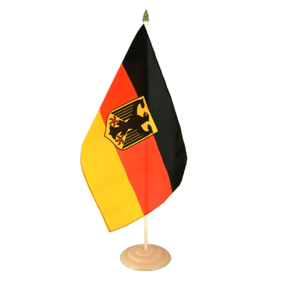 "Large Table Flag Germany Dienstflagge - 12x18"", wooden"