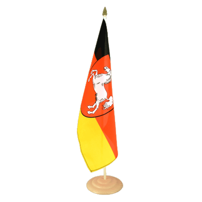 "Large Table Flag Lower Saxony - 12x18"", wooden"