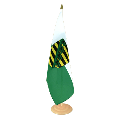 Grand drapeau de table Saxe en bois 30x45 cm