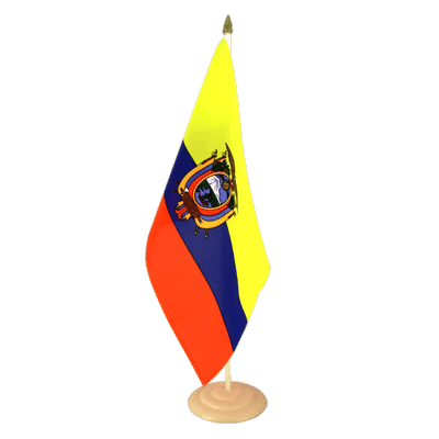 "Large Table Flag Ecuador - 12x18"", wooden"