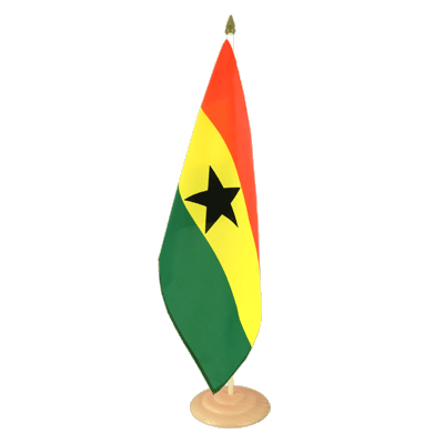"Large Table Flag Ghana - 12x18"", wooden"