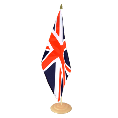 "Large Table Flag Great Britain - 12x18"", wooden"