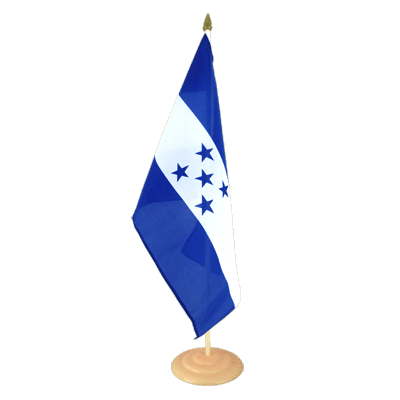 Grand drapeau de table Honduras en bois 30x45 cm