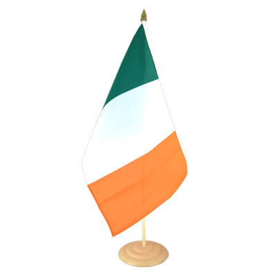 "Large Table Flag Ireland - 12x18"", wooden"