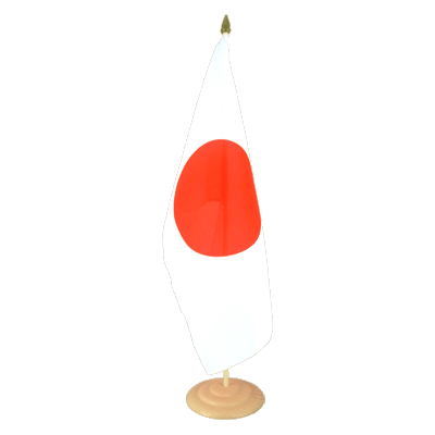 "Large Table Flag Japan - 12x18"", wooden"