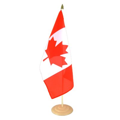 Grand drapeau de table Canada en bois 30x45 cm
