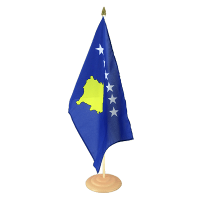 "Large Table Flag Kosovo - 12x18"", wooden"