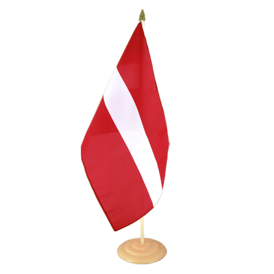 "Large Table Flag Latvia - 12x18"", wooden"